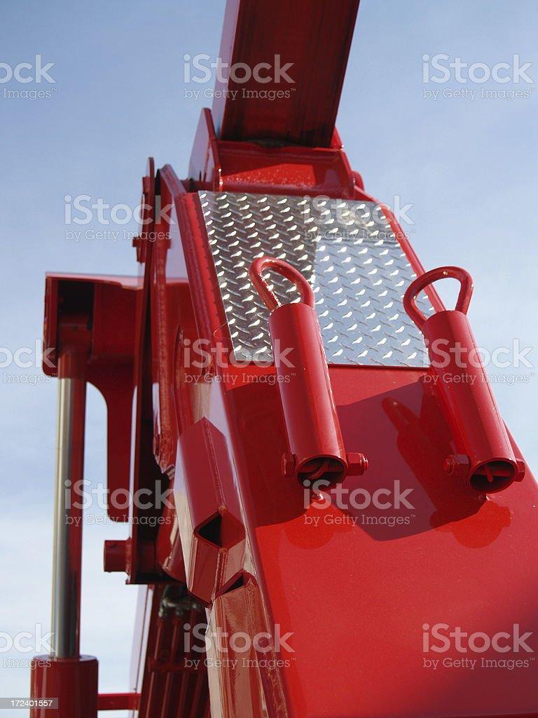 Red Tow Truck - Heavy Equipment stock photo