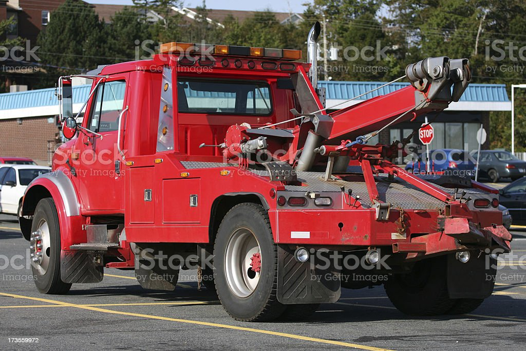 Red Tow Truck stock photo