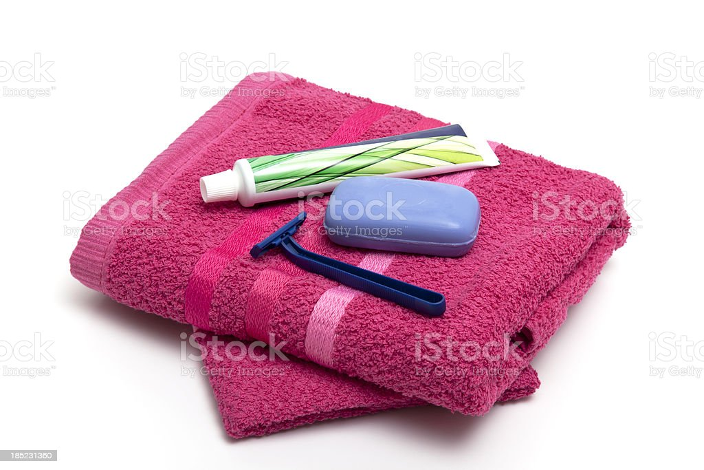 red towel royalty-free stock photo