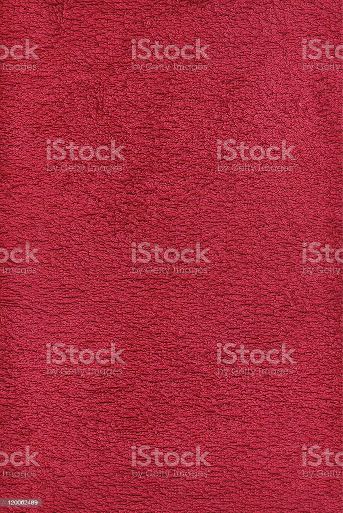 Red towel texture stock photo
