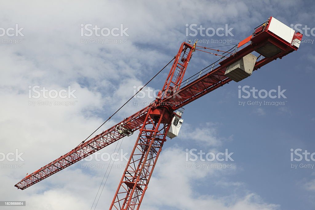 Red Tower construction crane royalty-free stock photo