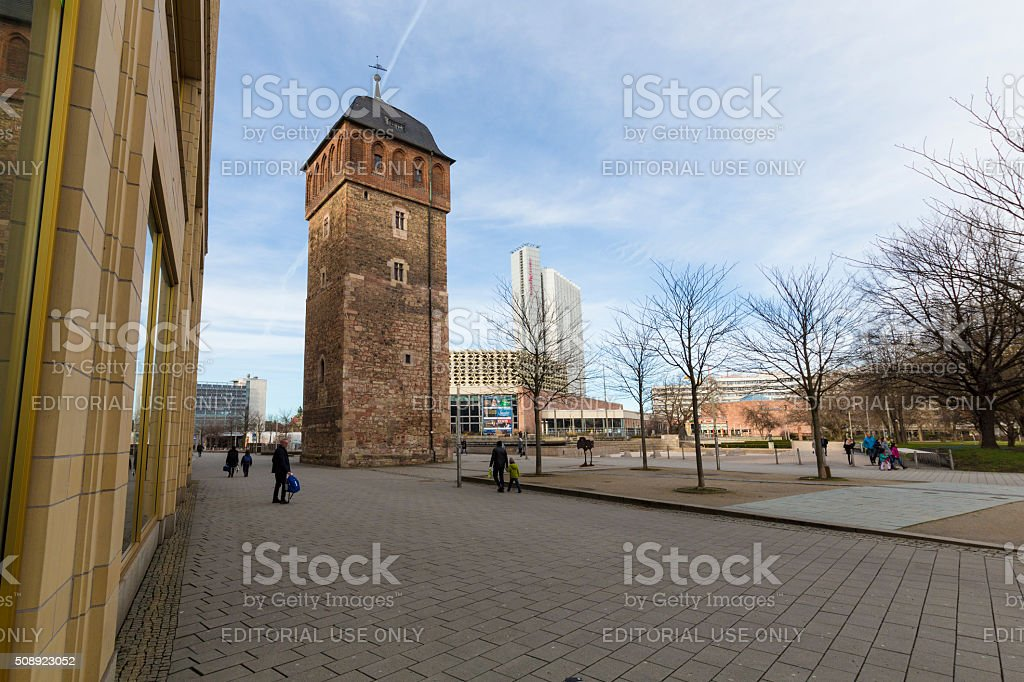Roter Turm in Chemnitz stock photo