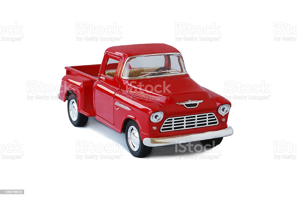 Red Toy Truck royalty-free stock photo