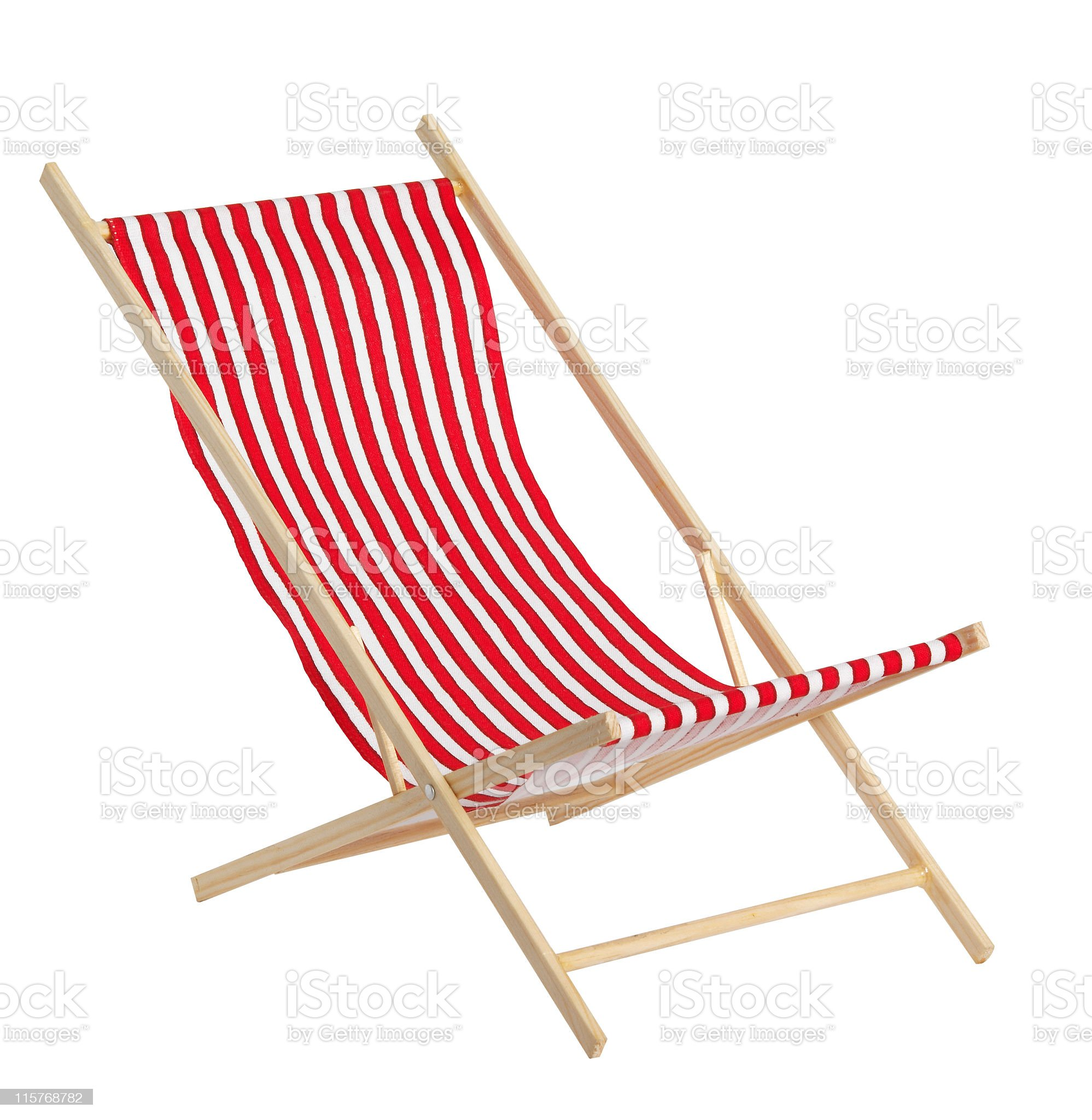 Red toys chaise longue on white background royalty-free stock photo