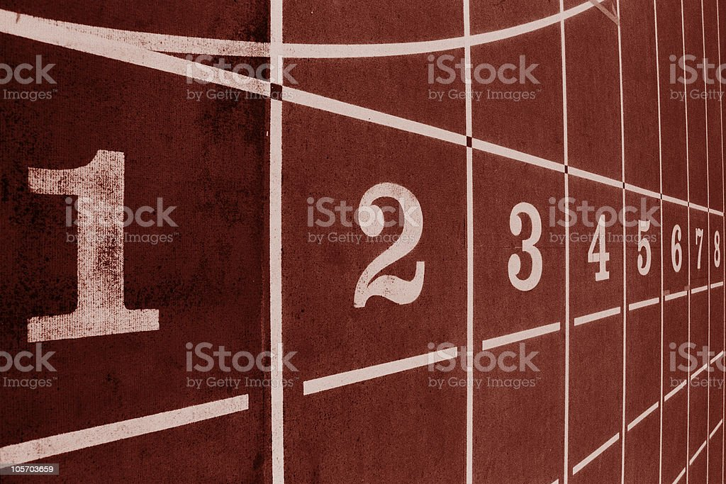 Red Track royalty-free stock photo