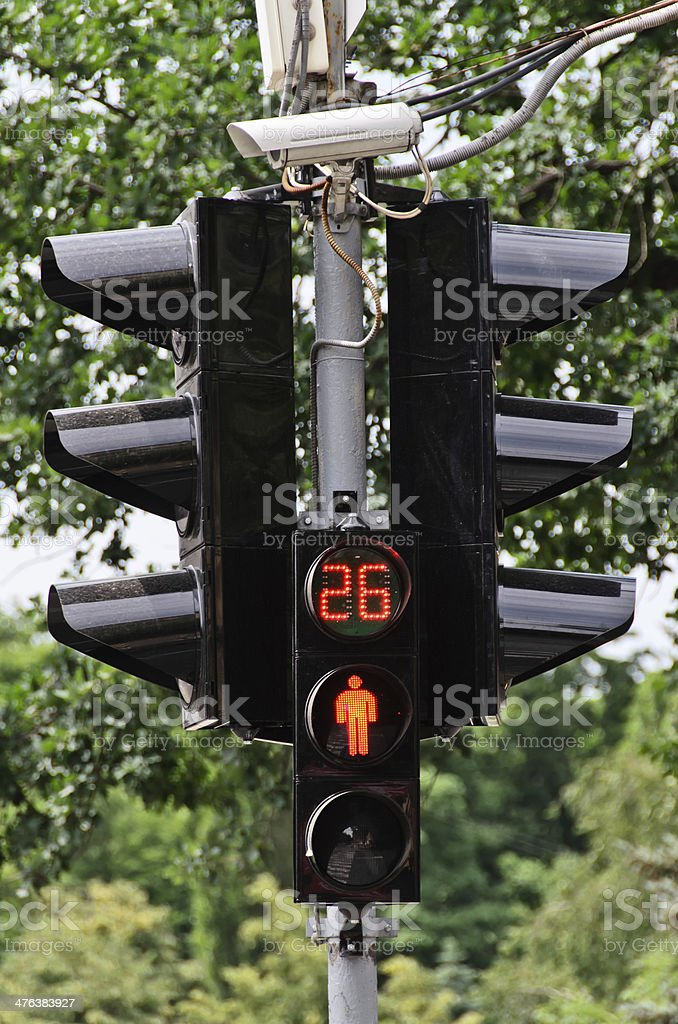 Red traffic light royalty-free stock photo