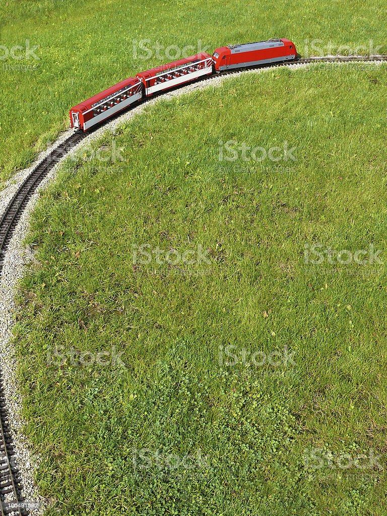 Roten Eisenbahn-Vogelperspektive Lizenzfreies stock-foto