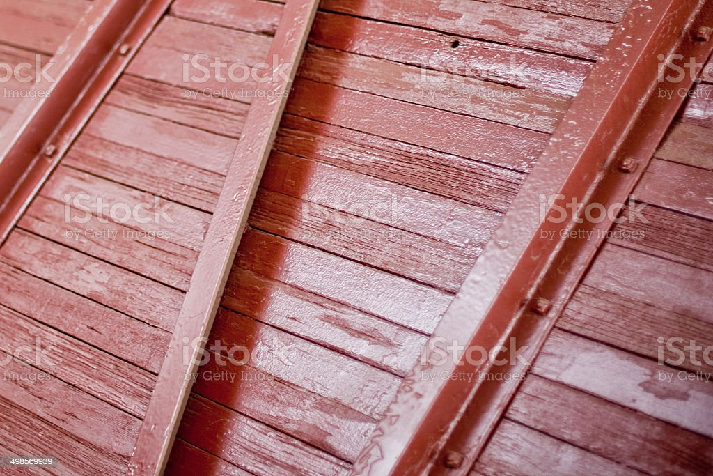 Red train car panel royalty-free stock photo