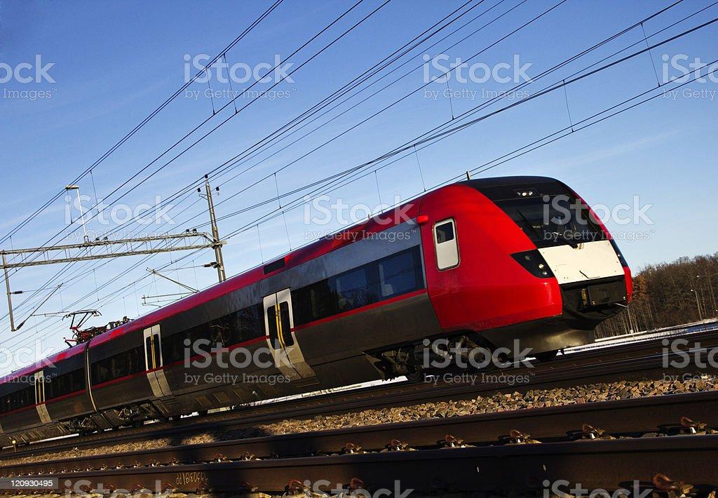 Red train. photo libre de droits