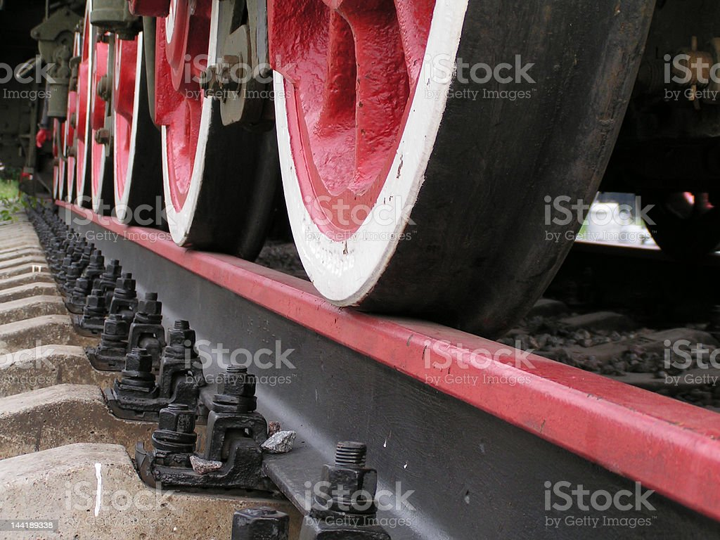 Red Train royalty-free stock photo