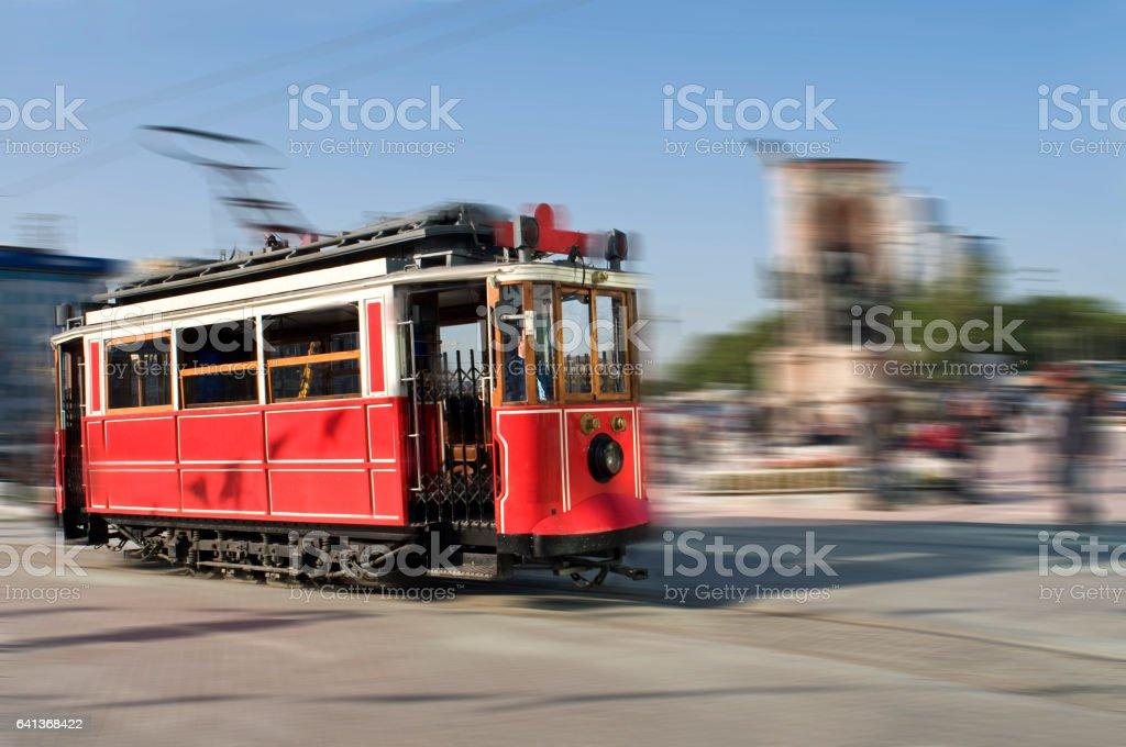 Red Tram stock photo