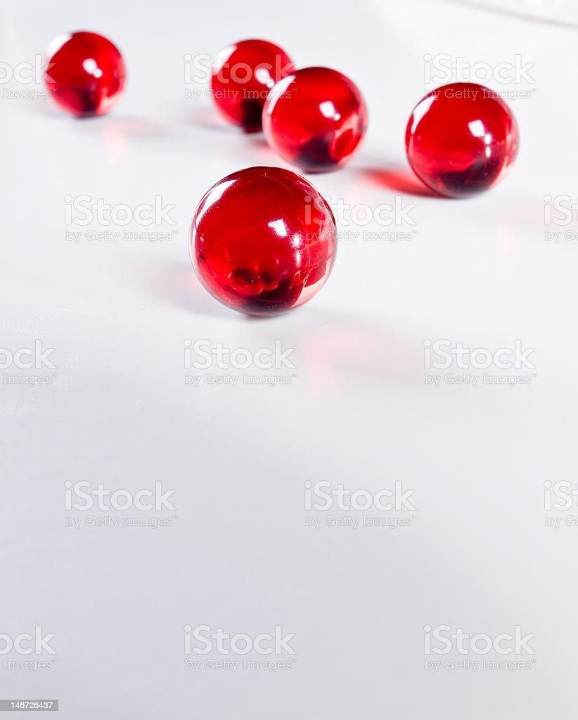 Red Transparent Balls stock photo