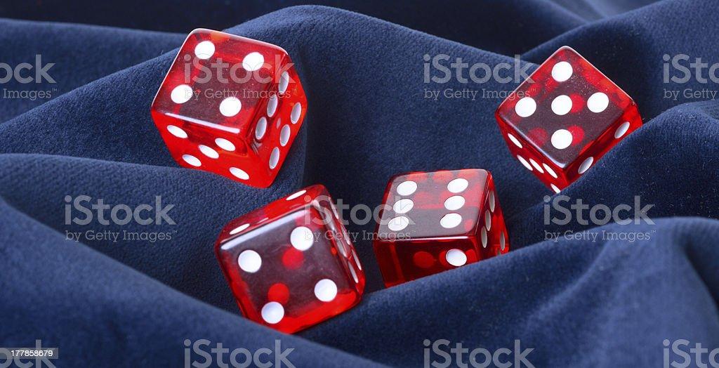 Red transparent playing bones royalty-free stock photo