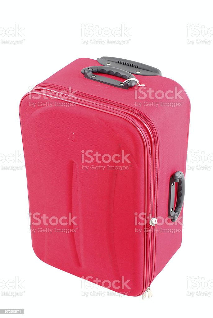 Red Travel Bag royalty-free stock photo