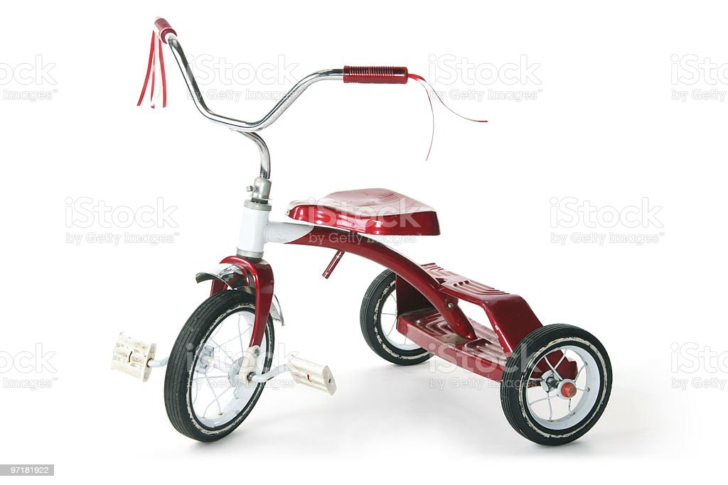 Red Tricycle stock photo