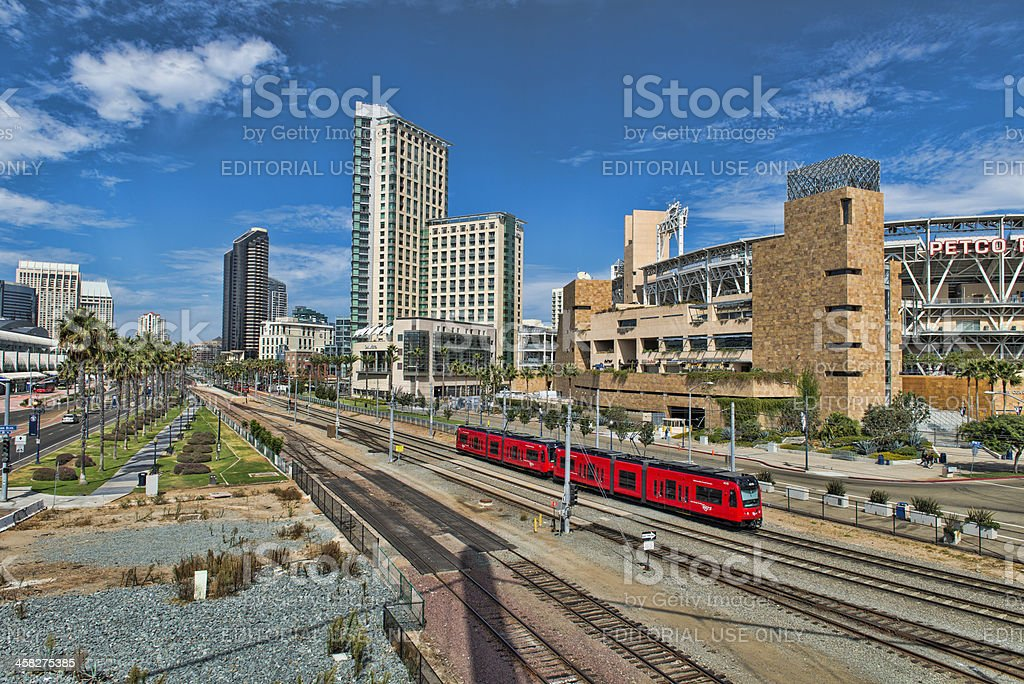 Red Trolley To San Diego stock photo