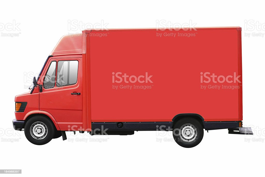 Red Truck Isolated stock photo
