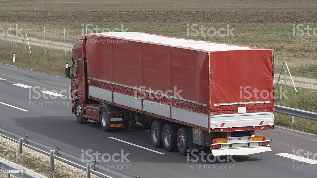 Red truck stock photo