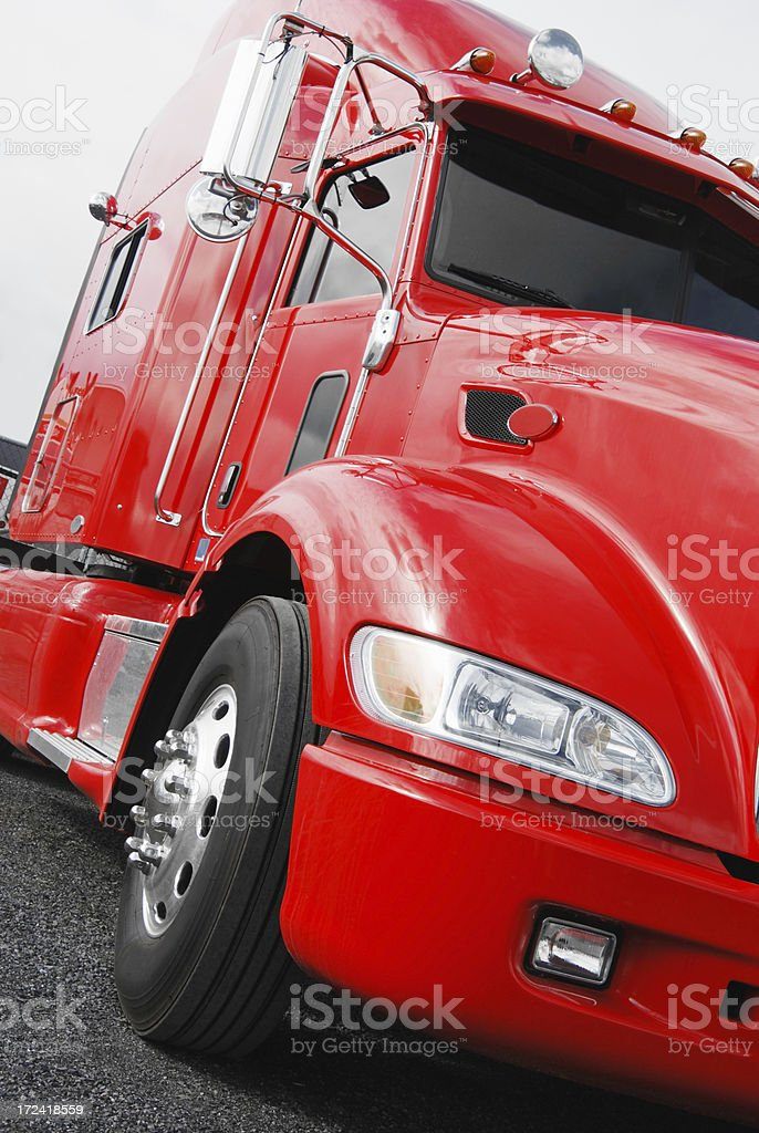 Red truck royalty-free stock photo