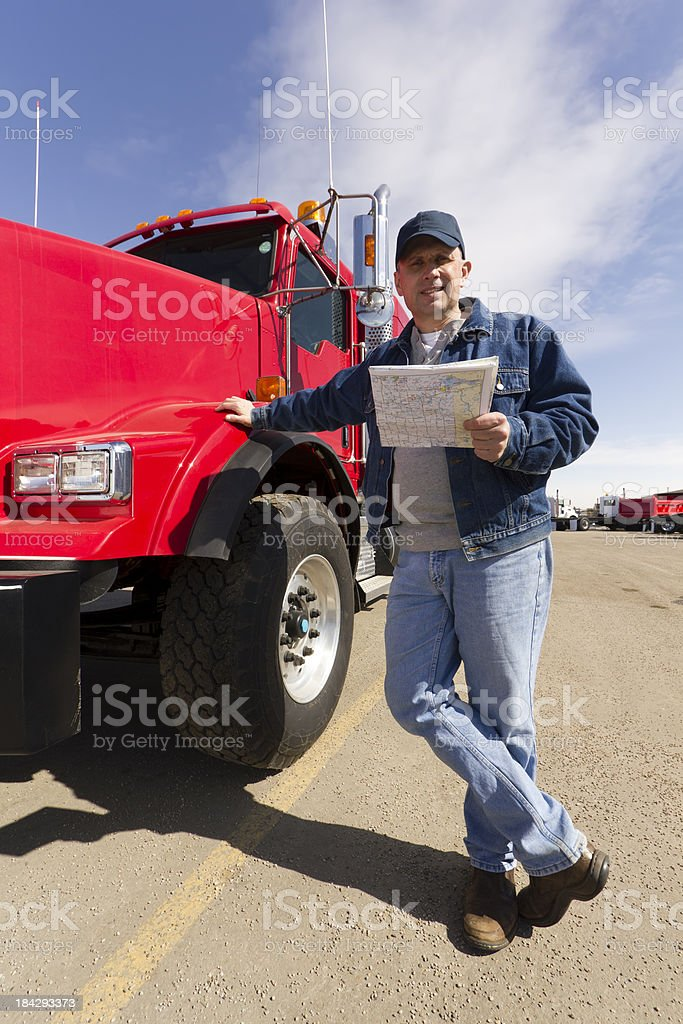 Red Trucker royalty-free stock photo