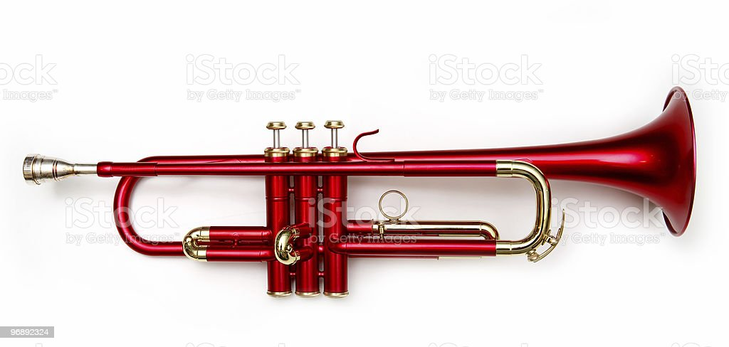red trumpet royalty-free stock photo