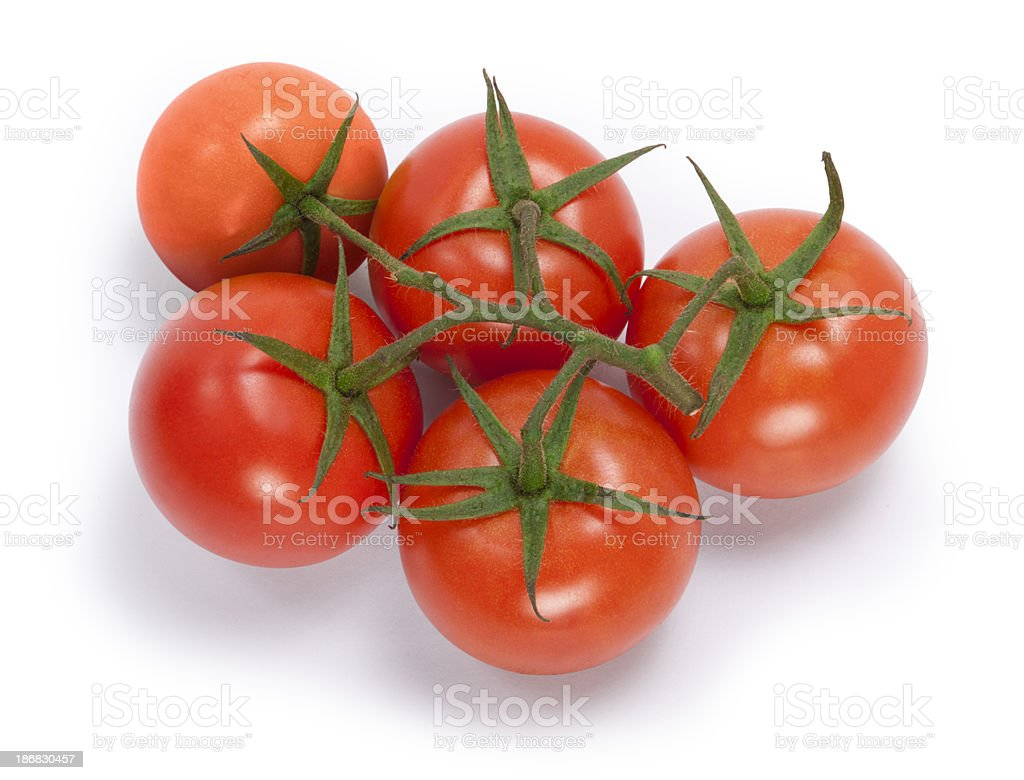Red Truss Tomatoes royalty-free stock photo
