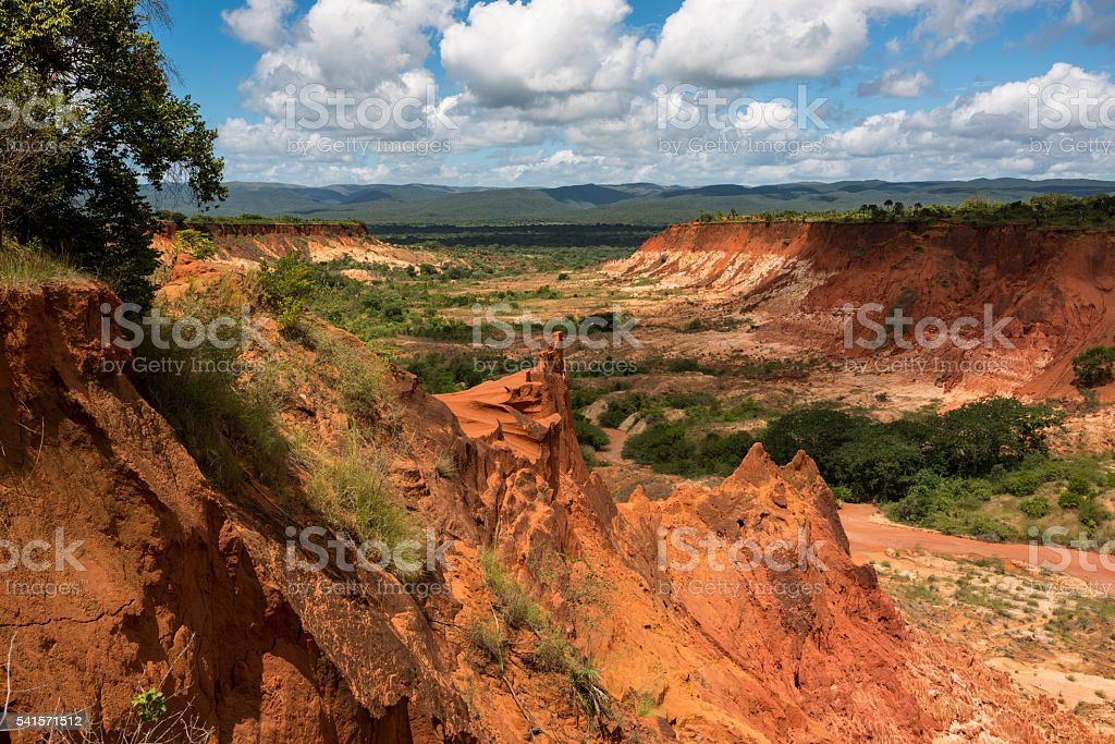 Red Tsingy - Sand Formations in Madagascar, Africa. stock photo