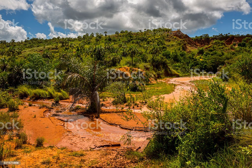 Red Tsingy - Stone Formations in Madagascar, Africa. stock photo