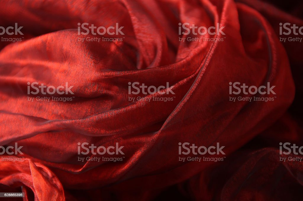 Red tulle stock photo