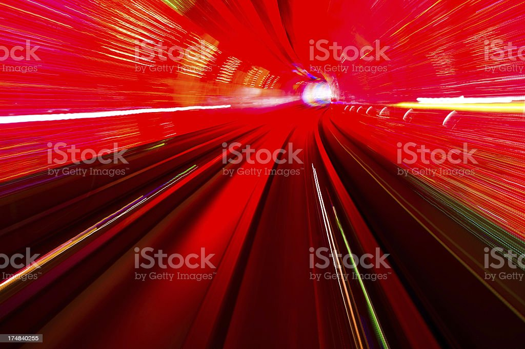 red tunnel royalty-free stock photo