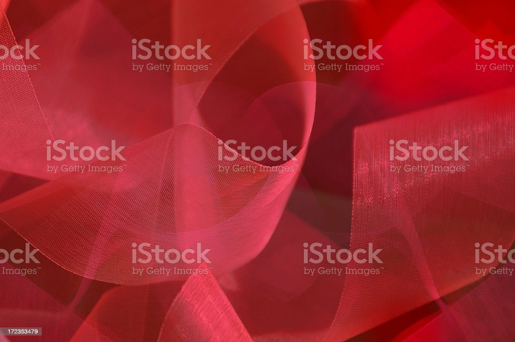 Red Twirling Ribbons Background royalty-free stock photo