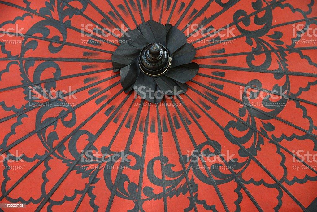 Red Umbrella in asia stock photo