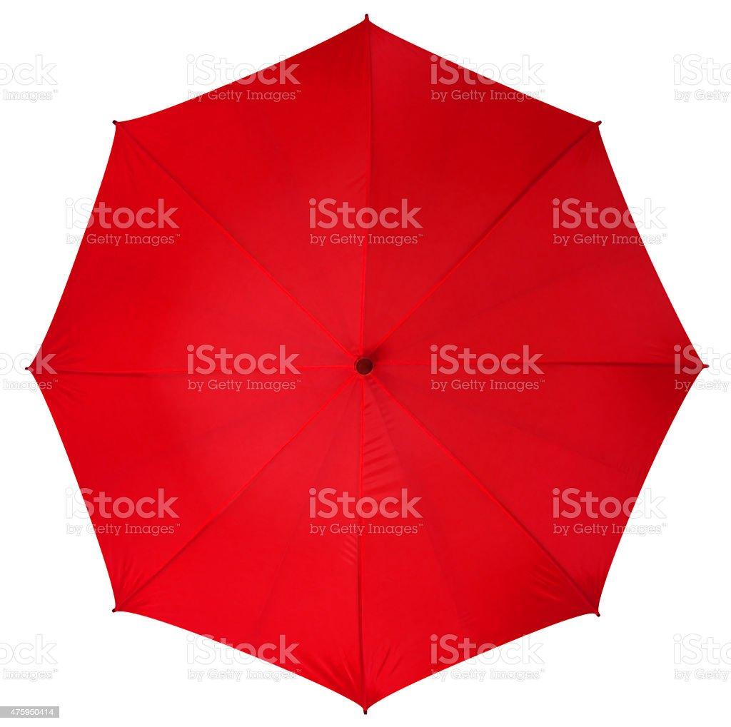 Red umbrella isolated stock photo