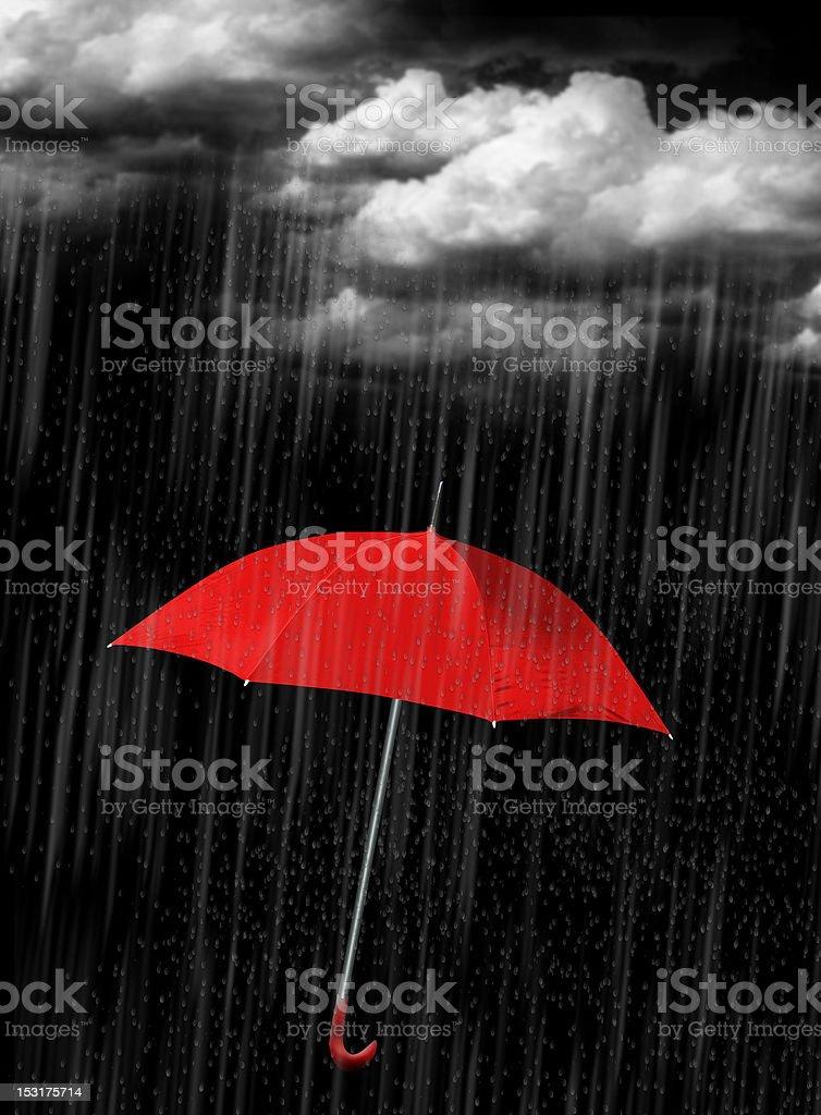 Red umbrella royalty-free stock photo