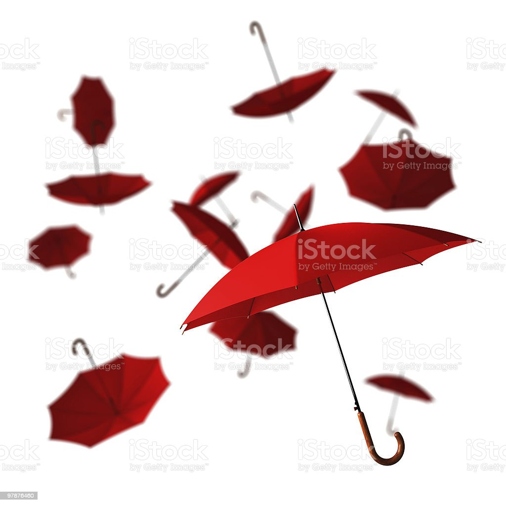 red umbrella royalty-free stock photo