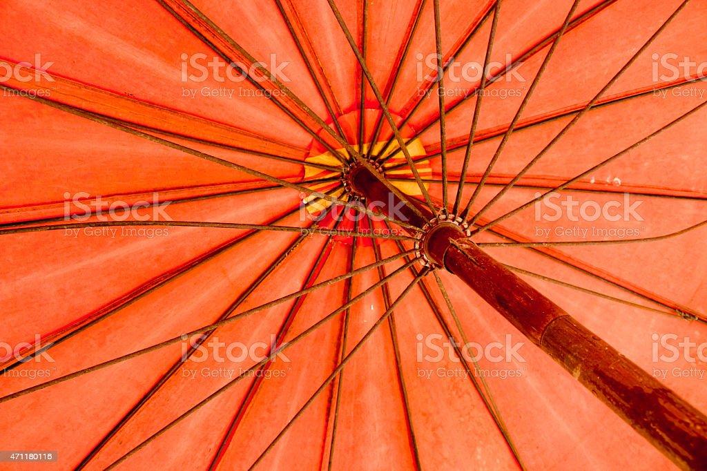 red umbrella texture stock photo