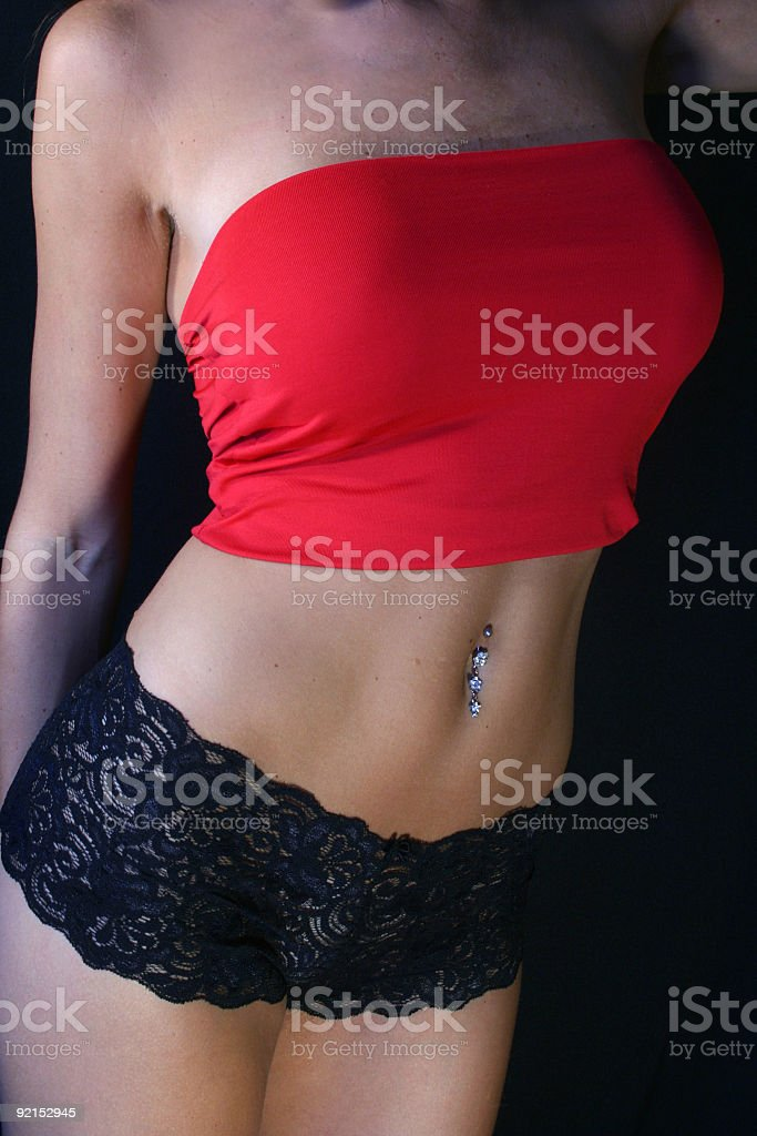 Red underwear royalty-free stock photo