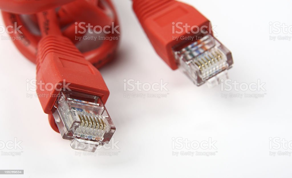 Red UTP cable royalty-free stock photo