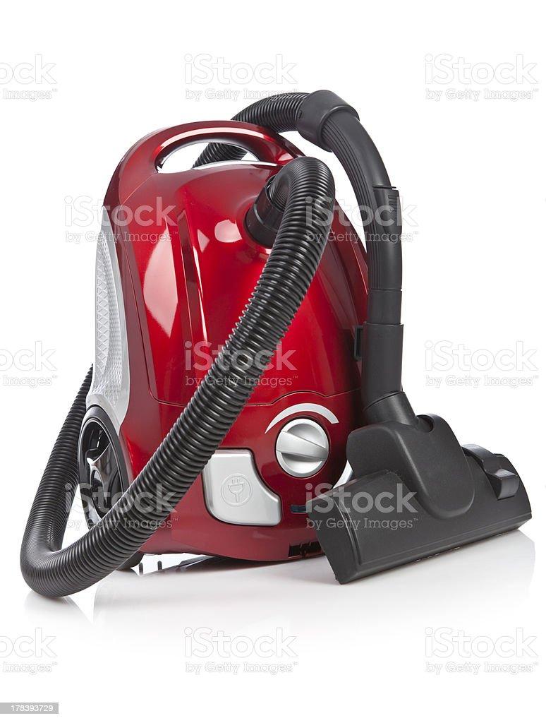 Red vacuum cleaner stock photo