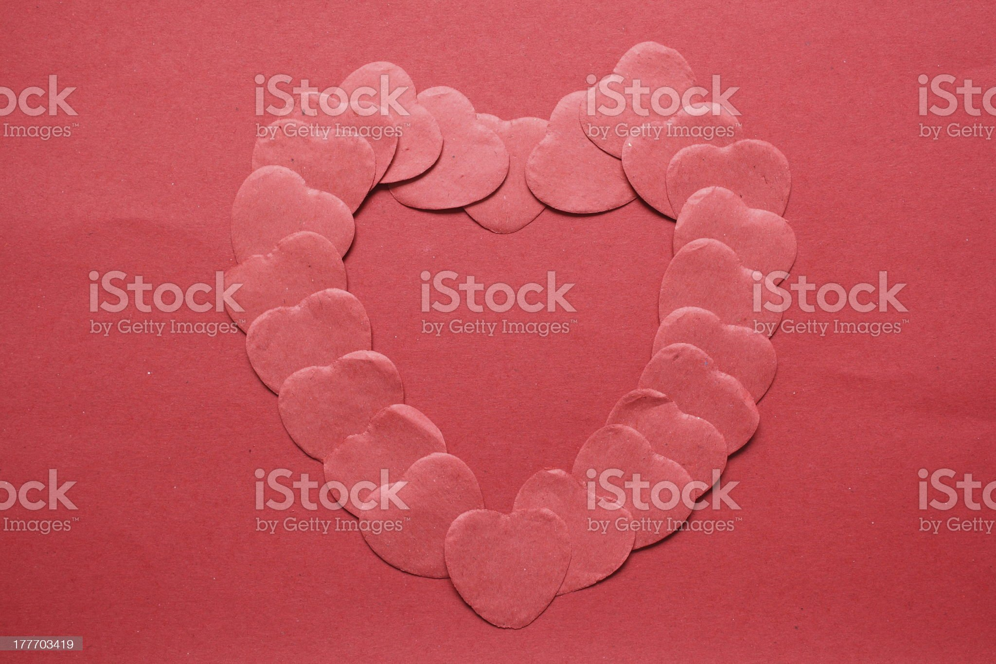 Red Valentine Hearts royalty-free stock photo