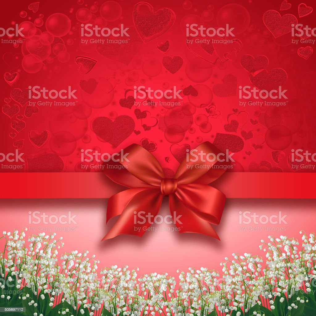 Red valentines  background stock photo