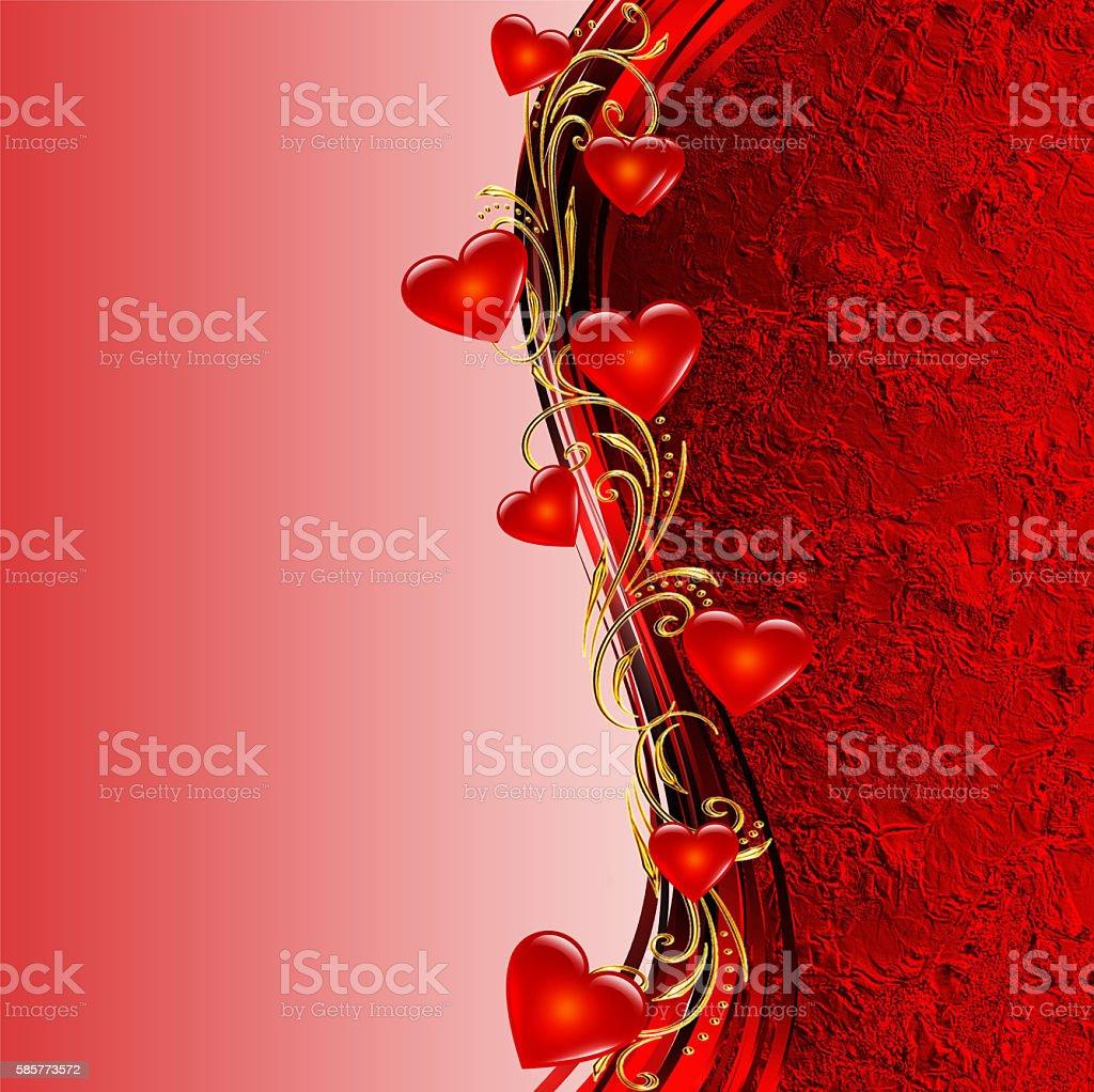 Red valentines background stock photo