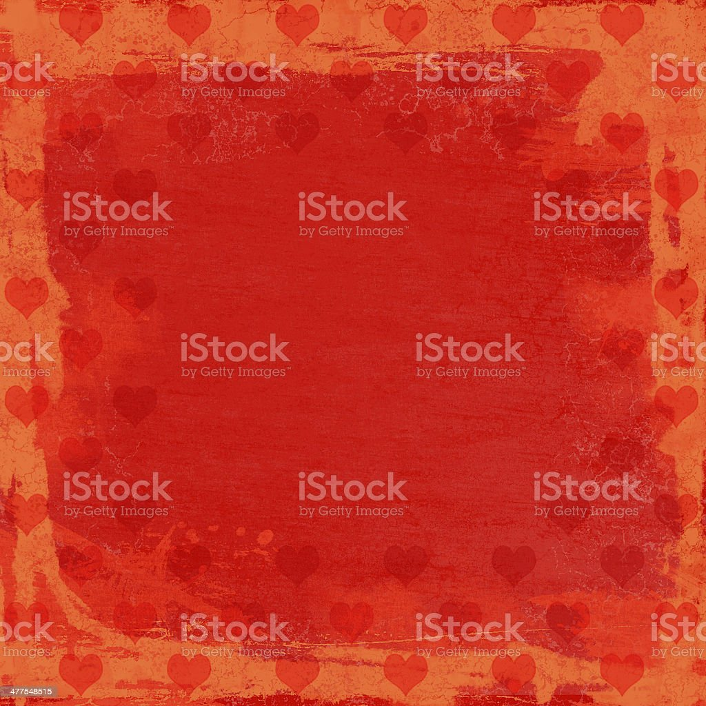 Red Valentine's day background with hearts royalty-free stock photo