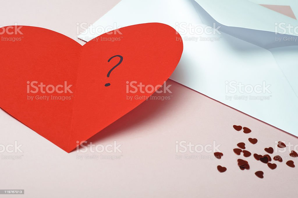 Red Valentines Heart Card stock photo