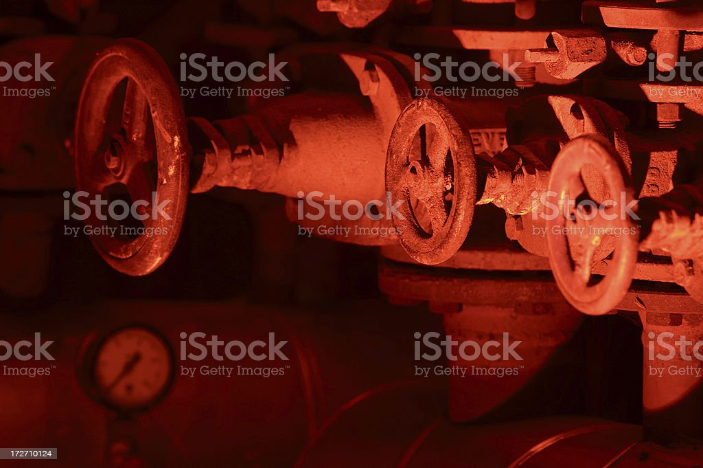 Red Valves royalty-free stock photo