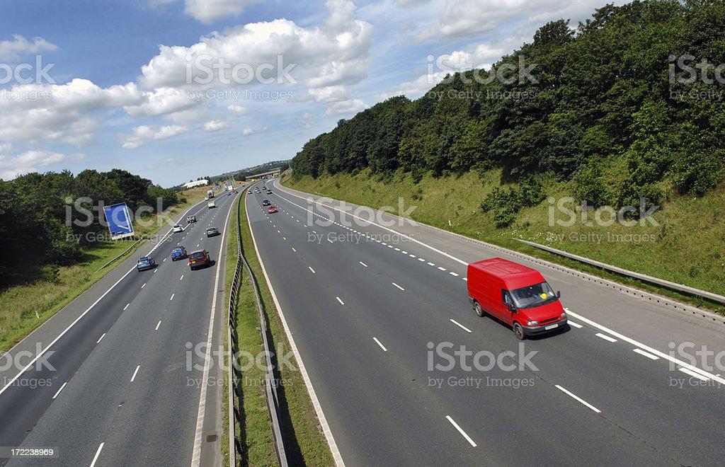 Red Van royalty-free stock photo