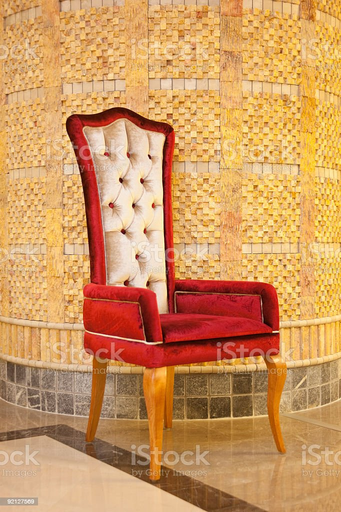 Red Velvet Armchair royalty-free stock photo