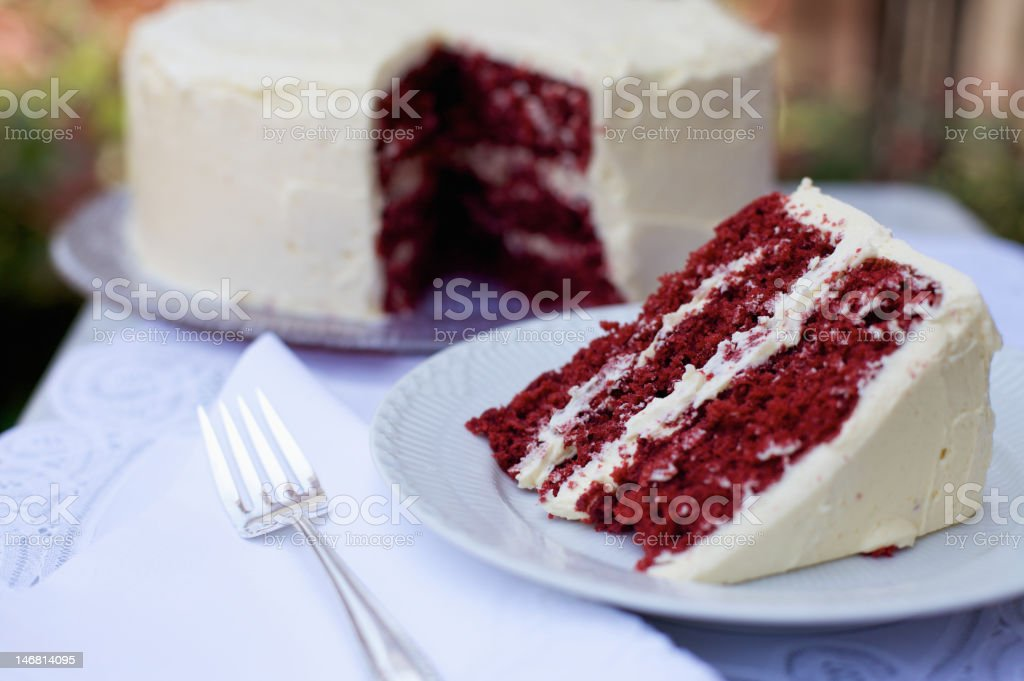 Red Velvet Cake royalty-free stock photo