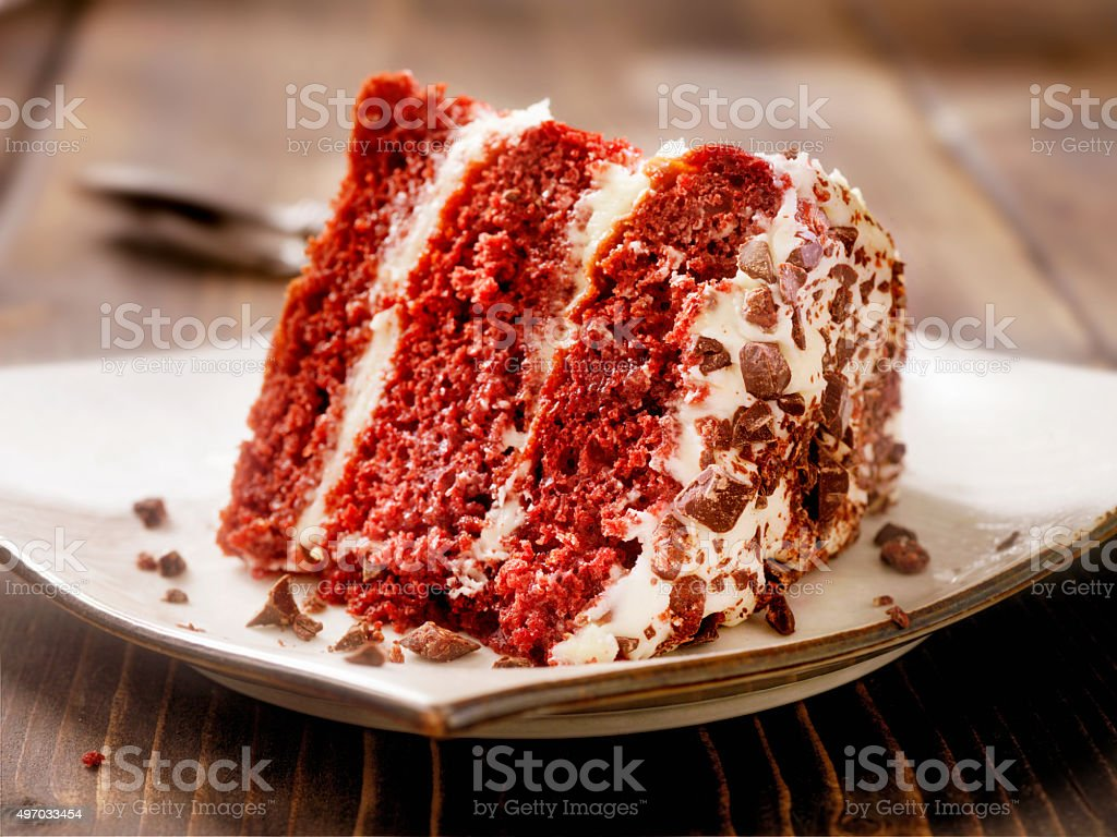 Red Velvet Cake stock photo