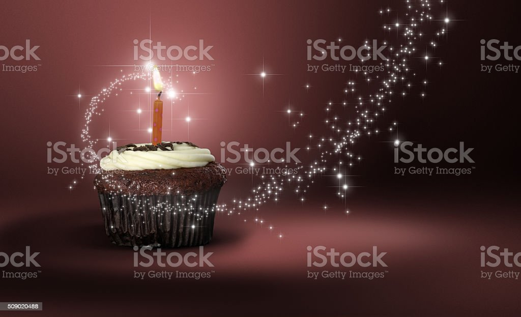 Red Velvet Cupcake Heaven stock photo